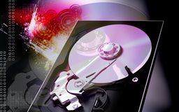 Compact  disc reader Royalty Free Stock Images