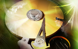 Compact  disc reader Royalty Free Stock Photo