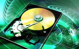 Compact  disc reader Stock Images