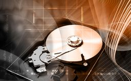 Compact  disc reader Stock Photo