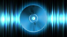 Compact disc sobre o laço sem emenda da forma de onda ilustração royalty free