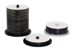 Compact disc stack Stock Images
