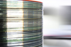 Compact Disc Stack Royalty Free Stock Photography