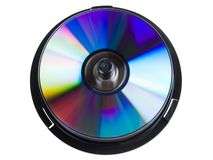 Compact disc stack Royalty Free Stock Image
