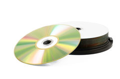 Compact disc stack Royalty Free Stock Photo