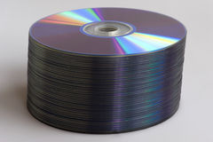 Compact disc stack Stock Photo