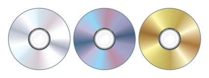 Compact disc tre Fotografia Stock