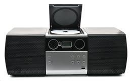Compact disc, usb e jogador de rádio fotografia de stock