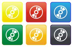 Compact disc web button Royalty Free Stock Image