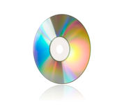 Compact Disc on White Stock Photography