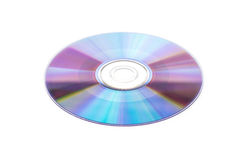Compact disc on white background Royalty Free Stock Photography