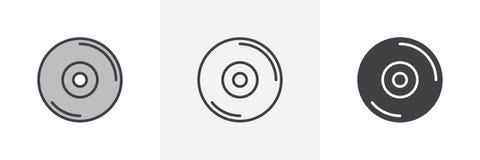 compact discpictogram vector illustratie