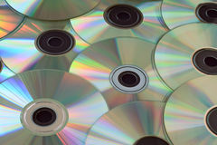 Compact discs. Royalty Free Stock Photo