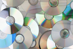 Compact discs. Photo shot of compact discs Royalty Free Stock Photo