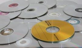 Compact Discs. Random display of compact discs Royalty Free Stock Image