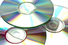 Compact Discs. An untidy pile of unused compact discs Stock Photo