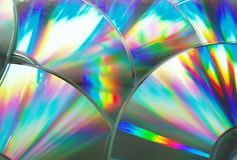 Compact discs. As a techno background Stock Image