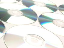 Compact Discs. Many Compact Discs Stock Photo