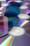 Compact Discs Background. Background of Many Shiny CD Compact Disc Royalty Free Stock Photography