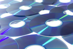 The Compact Discs Blue Stock Photos