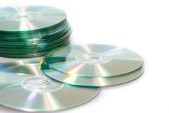 Free Compact Discs Cd On A White Background Royalty Free Stock Images - 23818849