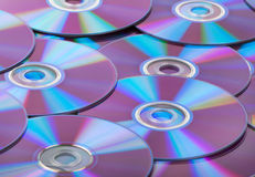 Compact discs CDs background Stock Image