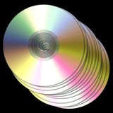 Compact discs / dvds Royalty Free Stock Photography