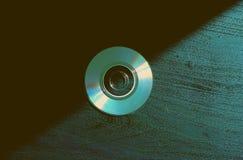 Compact-discs op de achtergrond royalty-vrije stock foto's