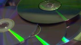 Compact discs stock video