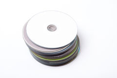 Compact discs in a pile Stock Images