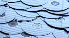Compact discs stock video footage