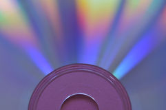Compact disk. On the pink background Royalty Free Stock Image