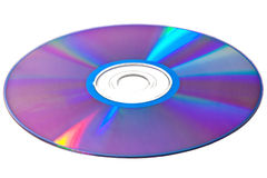 Compact disk. Isolated on white Stock Photography