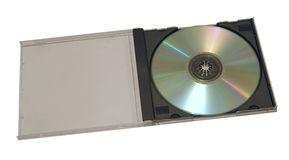 Compact disk. With box on withe background stock photo