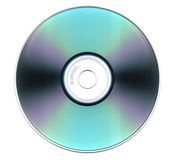 Compact Disk. On an isolated white background Stock Photos