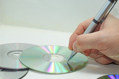 Compact disk abstract composition. Stock Photography
