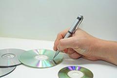 Compact disk abstract composition. Stock Photos