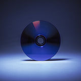 Compact Disk in Blue Stock Image