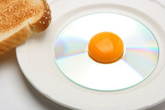 Compact disk breakfast Stock Photos