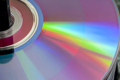 Compact disk close up Royalty Free Stock Images