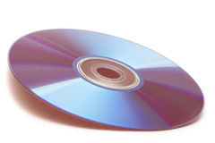 Compact disk (DVD). On white background royalty free stock image