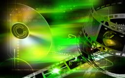 Compact disk and film Stock Photo