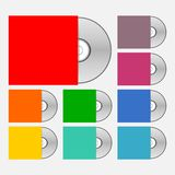Compact disk icons set Stock Image