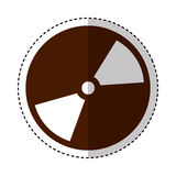 Compact disk isolated icon Royalty Free Stock Photography