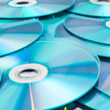 Compact disk isolated on white background royalty free stock image