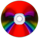 Compact disk on white Royalty Free Stock Photography