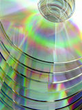 The compact disks. The scale of colours on compact plates Royalty Free Stock Image