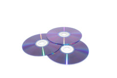 Compact disks isolated Stock Photography