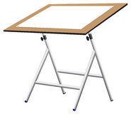 Compact drawing board with paper. Compact drawing board with a sheet of blank paper on the surface Royalty Free Stock Image