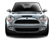Compact economy car - front view royalty free illustration
